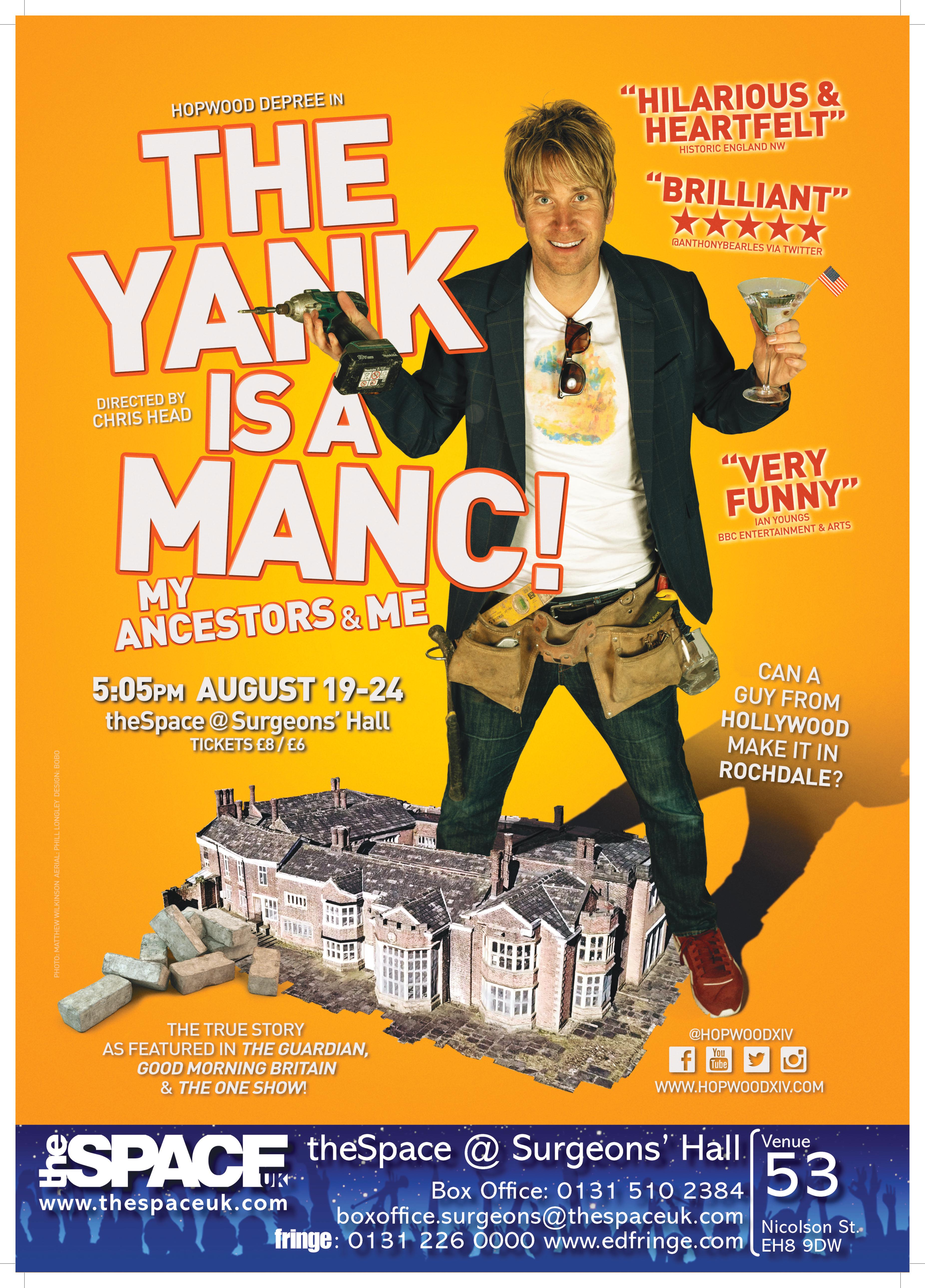Stand-Up Review – 'The Yank is a Manc': Hopwood Hall Rochdale