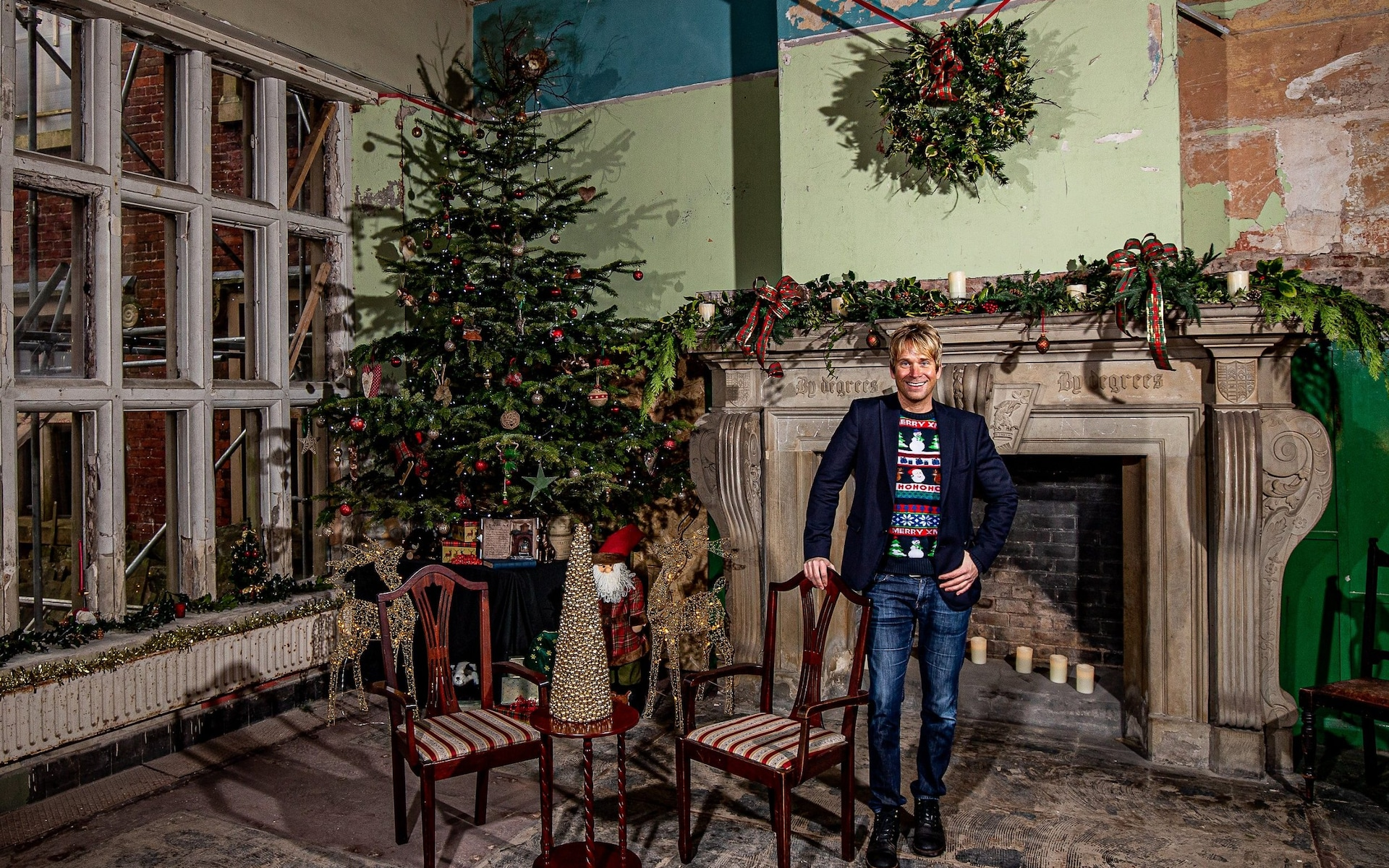 The Telegraph: How I rebuilt 'Downton Shabby' in time for its first Christmas in 100 years: Hopwood Hall Rochdale
